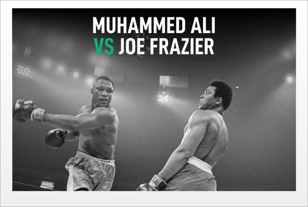 Muhammed Ali vs Joe Frazier...